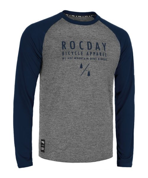 Rocday manual mtb jersey blue front